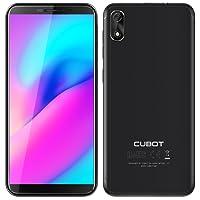"""Téléphone Portable débloqué, Smartphone Pas Cher 5"""" - Reconnaissance du Visage, Android Go MT6580 Quad-Core, 16 Go, 5MP+2MP Caméra, 2000mAh Batterie, Dual SIM, WiFi - Cubot J3 Noir"""