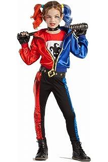 Biback Disfraz de niña Harley Quinn 3 en 1 Juego - Cosplay 3 Piezas ... f7c3920de62c