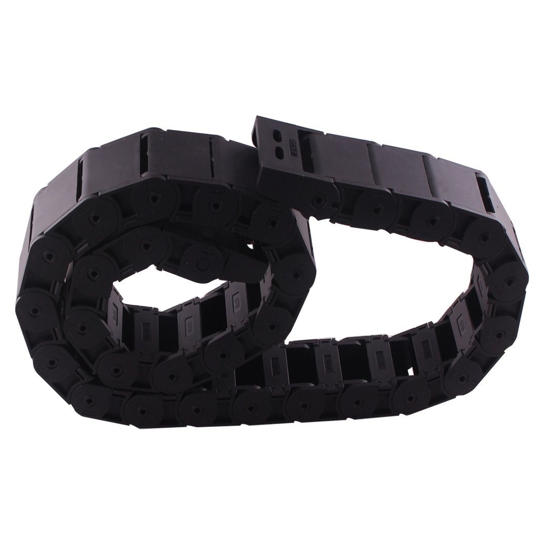 15mm x 30mm Plastic Semi Closed CNC Machine Tool Cable Wire Carrier Drag Chain 1M Black Ted Lele 15mm x 30mm