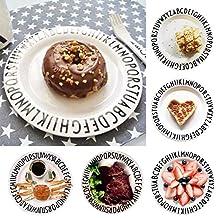 LEIZENG Letters Plates Snacks Fruit Alphabet Plate Kid Melamine Baby Feeding Dinner Dishes Platter, Plate