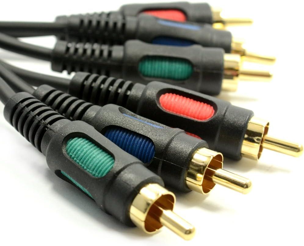 Component YUV Vidéo RGB YUV 3 Cinch vers 3 RCA Cinch câble Cordon 1,5 m  [1.5 mètre/1,5m]: Amazon.fr: High-tech