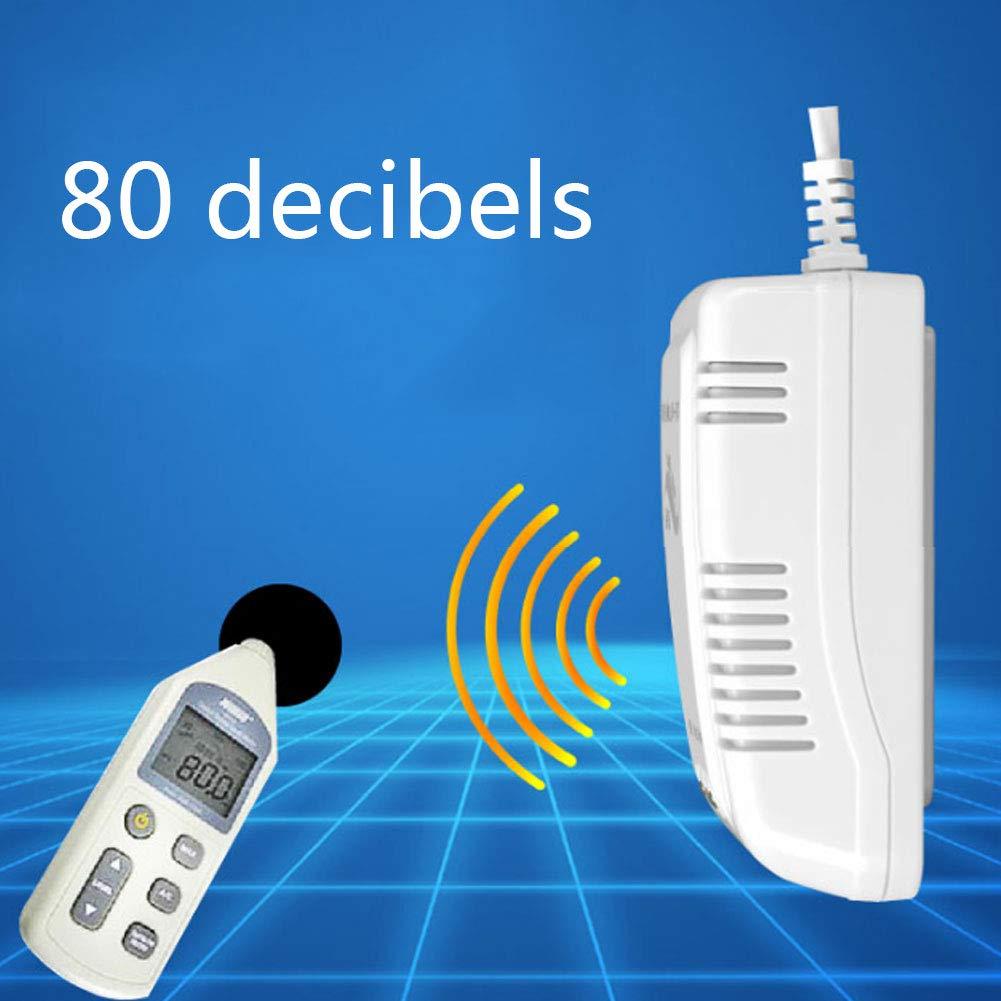 LYTLD Detector Mon/óXido De Carbono Detector De Humo Y Co Alarma De Envenenamiento por Gas En La Cocina Dom/éStica Alarma De Holl/íN Enchufable White