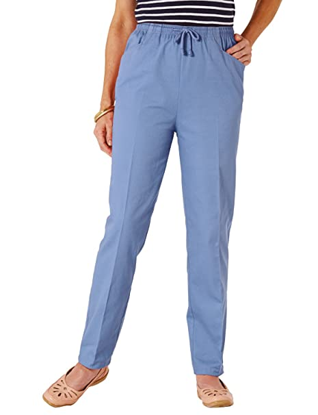 133b4a71197b Ladies Womens Quality Cotton Trousers with Drawcord  Amazon.co.uk ...