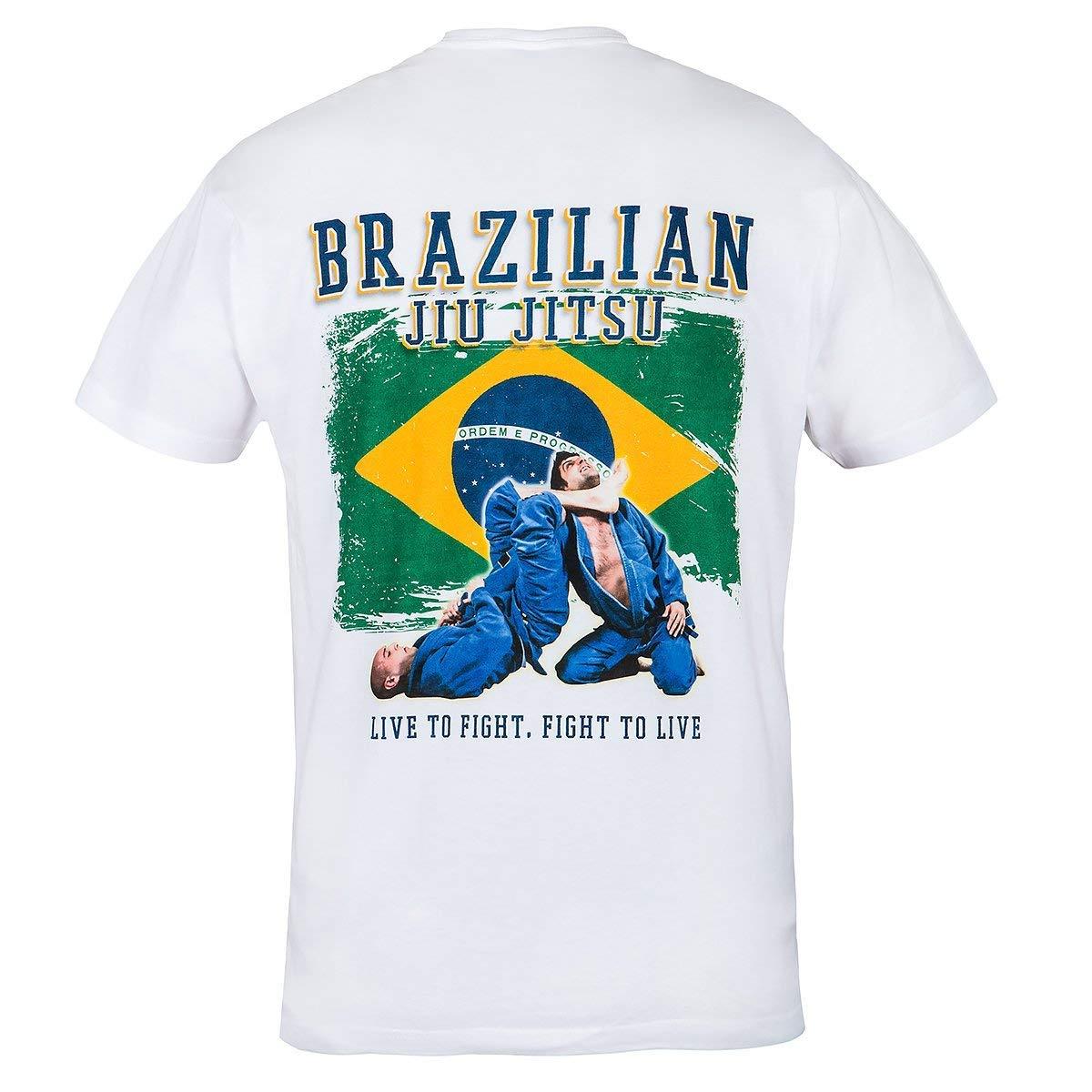 Casual Wear Strength Brazilian Jiu Jitsu Honor Rule Out Arti Marziali Maglietta da Uomo Courage