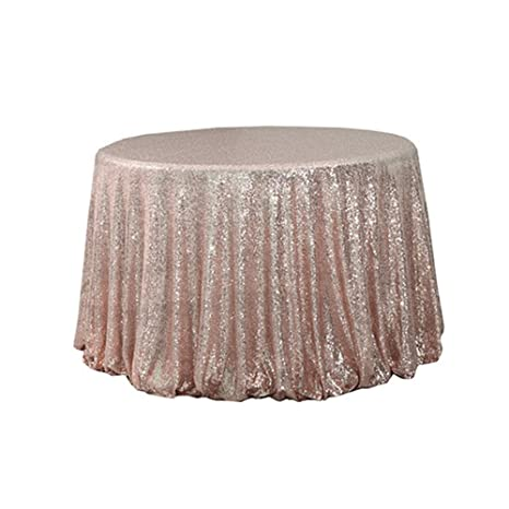 Miraculous Diameter 48 Round Rose Gold Sequin Tablecloths Rose Gold Sequin Round Table Cloths Rose Gold Sequin Table Linens For Wedding Home Interior And Landscaping Palasignezvosmurscom