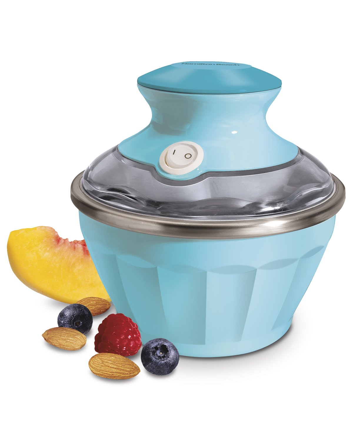 Hamilton Beach 68661 Half Pint Soft Serve Ice Cream Maker, Blue
