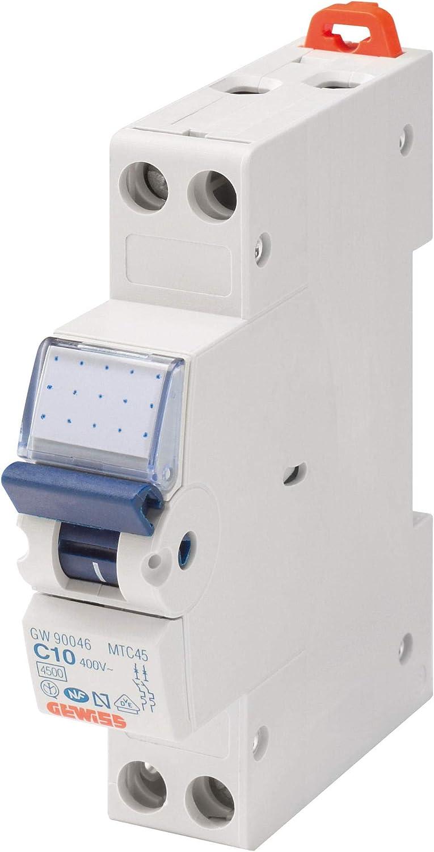 color: blanco Autom/ático Gewiss GW90028 Interruptor Magn/ético