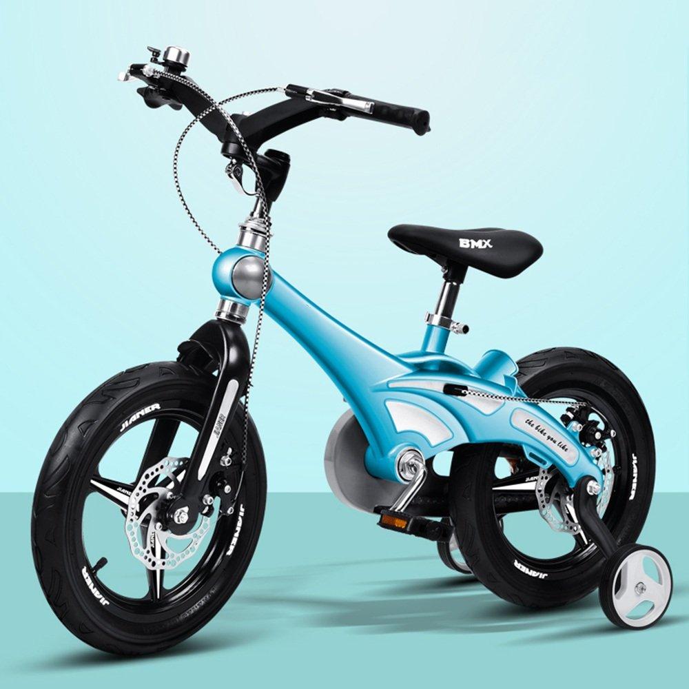 PJ 自転車 12/14/16インチ子供用自転車少年少年バイク自転車2-9歳自転車ベビーカーの自転車 子供と幼児に適しています ( 色 : 青 , サイズ さいず : 12 inch ) B07CR9T99Q青 12 inch