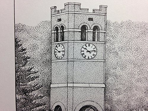 Western Carolina University - Bell Tower 11''x14'' pen and ink print by Campus Scenes (Image #1)