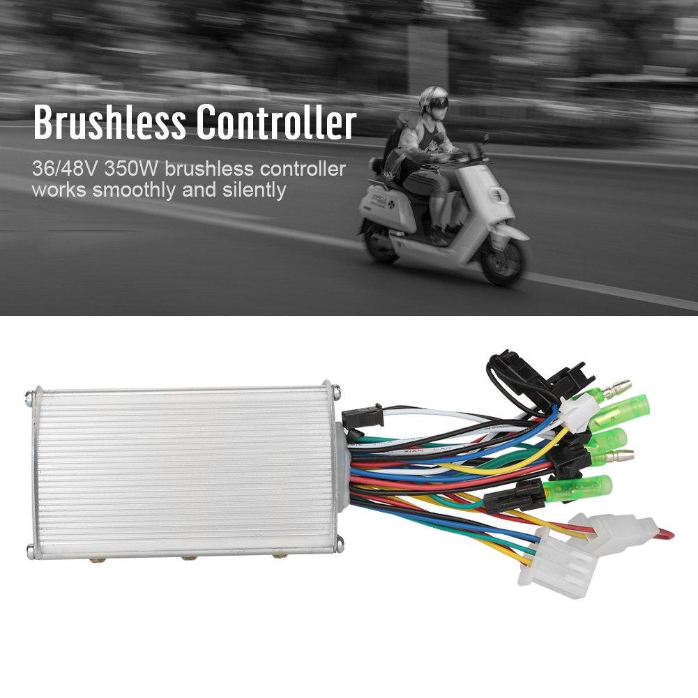 Controlador de Motor sin escobillas 36V//48V 350W para Scooter de Bicicleta el/éctrica Gorgeri Controlador de Motor el/éctrico