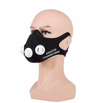 OUTERDO Máscara de entrenamiento en altitud, resistencias de respiración, para aumentar capacidad pulmonar,