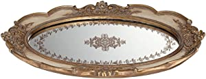 "Universal Lighting and Decor Iberia 16 1/2"" Wide Gold Mirrored Decorative Tray - Kensington Hill"