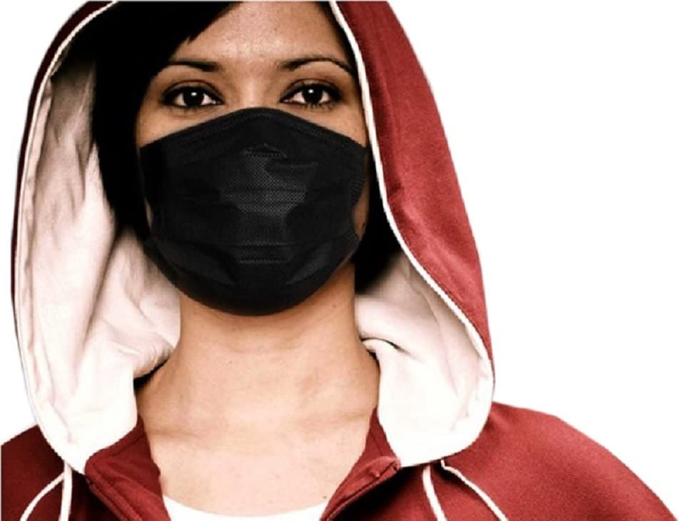 Thick Flu Protection Face Bllomsem Black Fabrics Grade Anti Masks Non-woven Earloops Cotton With Virus Pollution 100 7pcs Design Medical And
