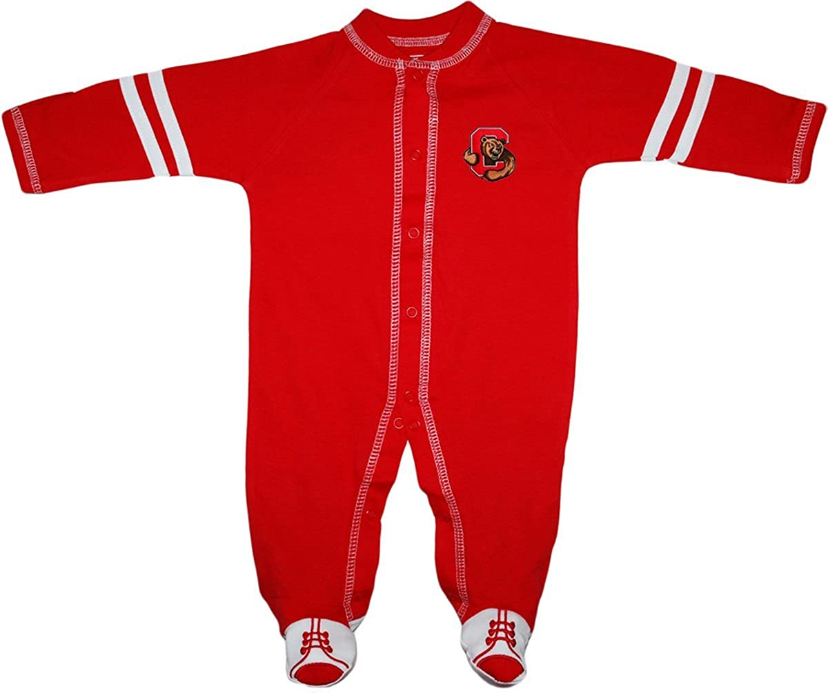 Creative Knitwear Cornell University Sports Shoe Footed Baby Romper