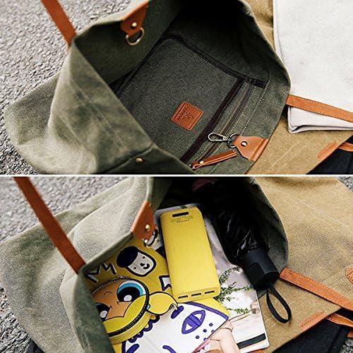 女性キャンバスヴィンテージトートバッグデザイナーハンドバッグショルダーバッグ YZUEYT