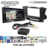 Volunteer Audio Kenwood DNX574S Double Din Radio Install Kit with GPS Navigation Apple CarPlay Android Auto Fits 2008-2013 Toyota Highlander with Amplified System (Black)