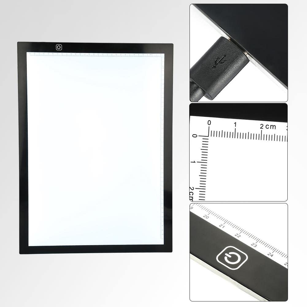 A3 LED Tracing Light Box Stencil Drawing Board Pattern Art Design Pad Supply US Portable LED Light Box Tracer Ultra-Thin USB Powered for Artists Drawing Animation Designing Sketching