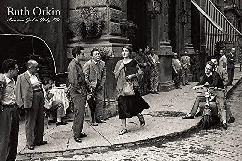 American Girl in Italy 1951 by Ruth Orkin Photo Art Print Italian Poster 24x36