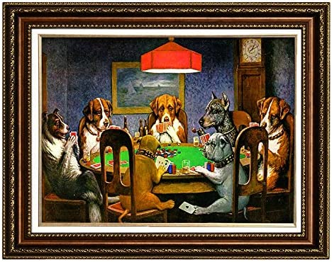 Eliteart-Dogs Playing Poker