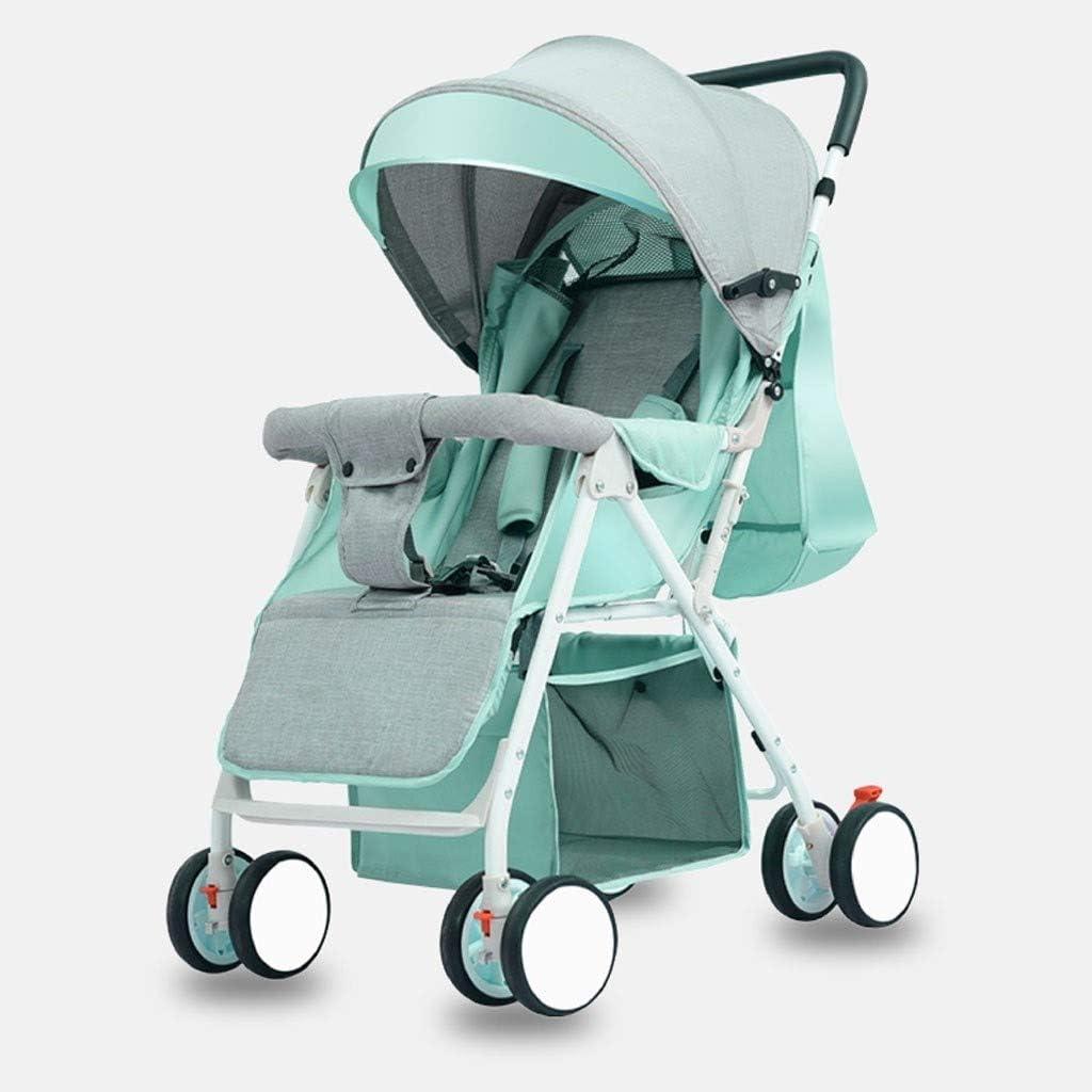 KQHSM Cochecito de bebé Puede Sentarse y Lay luz y Plegar Choque portátil absorbedor Niño Bebé Niño Simple Carretilla de Cuatro Ruedas (Color : G): Amazon.es: Hogar