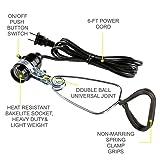 Simple Deluxe HIWKLTCLAMPSOCKETX6 6-Pack 18/2-Gauge Brooder and Heat Clamp Lamp UL Listed with Bakelite Socket 150 Watt 6 Feet Cord