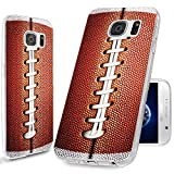 S6 Case,Samsung S6 Case,Galaxy S6 Case,ChiChiC [Cool Series] Full Protective Slim Flexible Durable Soft TPU Case for Samsung Galaxy S6 G9200,Funny Brown Football