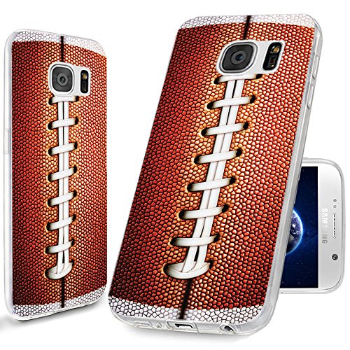 CHICHIC S6 Case,Samsung S6 Case,Galaxy S6 Case, [Cool Series] Full Protective Slim Flexible Durable Soft TPU Case for Samsung Galaxy S6 G9200,Funny Brown Football