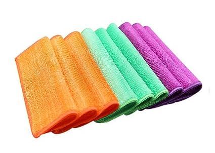 9 paquetes de 3 diferentes colores de fibra de bambú paños plato cocina toallas de lavado