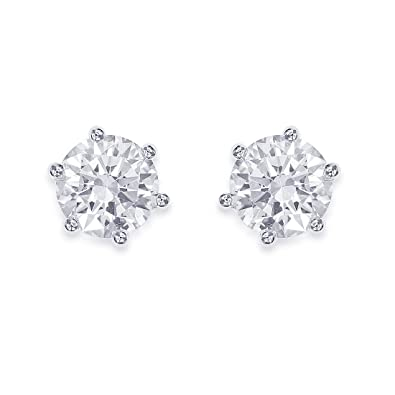 1a40f4d37 Buy Peora 925 Sterling Silver Cubic Zirconia Rhodium Brilliant 8 mm Round Stud  Earrings for Women Online at Low Prices in India | Amazon Jewellery Store  ...