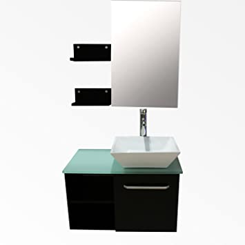 bathroom vanity combo 24 inch home depot canada menards bath top single sink square porcelain ceramic vessel wood wall