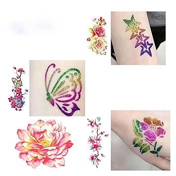 Amazon.com : DZT1968 Men women A Set Of Tattoo Templates Temporary ...