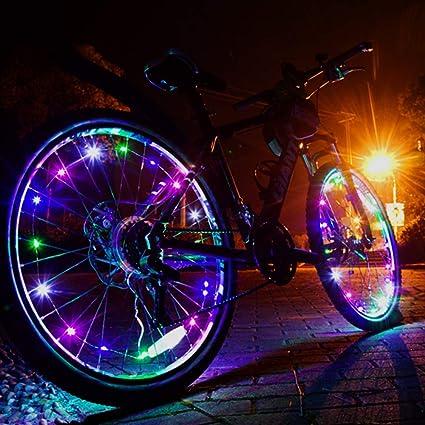Ultra Bright LED W Bike Wheel Spoke Light String 2 Tire Set