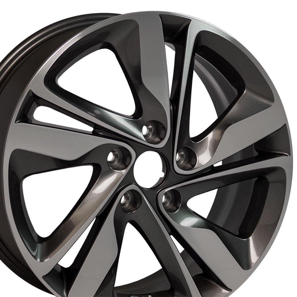 17x7 OEM Hyundai Elantra Wheel Fits Hyundai, Kia Gunmetal Mach'd Face Rim, Hollander 70860A