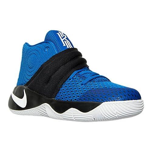7cc2ba45f803 Nike Kyrie 2 (PS) Basketball Shoes Hyper Cobalt Metallic Silver Black 827280