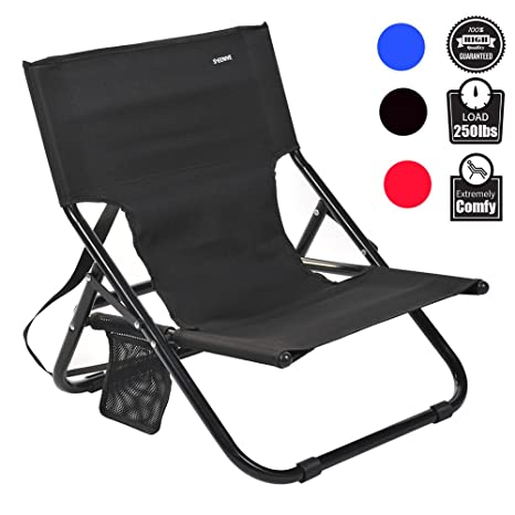 Sheenive Folding C&ing Chair - Outdoor Comfortable Compact Low Profile Portable Armless C&ing Chairs For Adults  sc 1 st  Amazon.com & Amazon.com : Sheenive Folding Camping Chair - Outdoor Comfortable ...