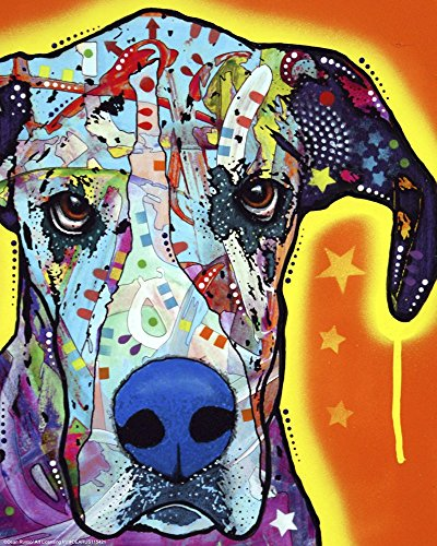 Great Dane by Dean Russo Art Print, 10 x 12 inches