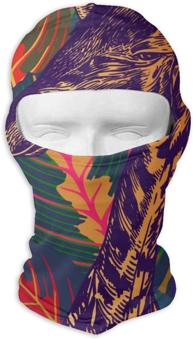 N/A Máscara de cara completa, cabeza de animal africano, jirafa de primer plano, máscara de protección solar, doble capa fría para hombres y mujeres