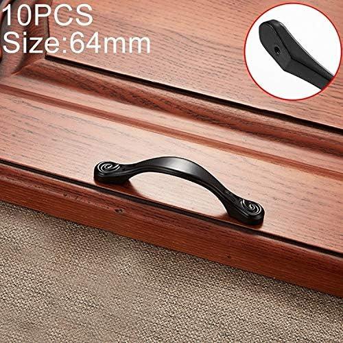 WZY 林10 PCSキャビネットワードローブの引き出しのドアのための4041から64シンプルArchaistic亜鉛合金のハンドルを、穴間隔:64ミリメートル
