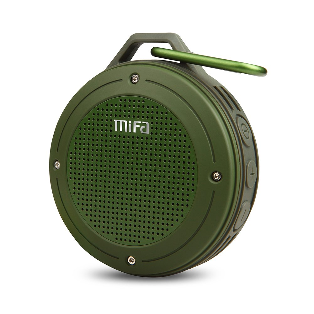 Bluetooth Speaker, MIFA F10 Portable Speaker with Enhanced 3D Stereo Bass Sound, IP56 Dustproof & Waterproof, 10-Hour Playtime, Built-in Mic, Micro SD Card Slot FBA_F10-GY