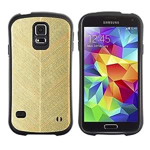 Suave TPU Caso Carcasa de Caucho Funda para Samsung Galaxy S5 SM-G900 / chevron gold leaf pattern wallpaper / STRONG