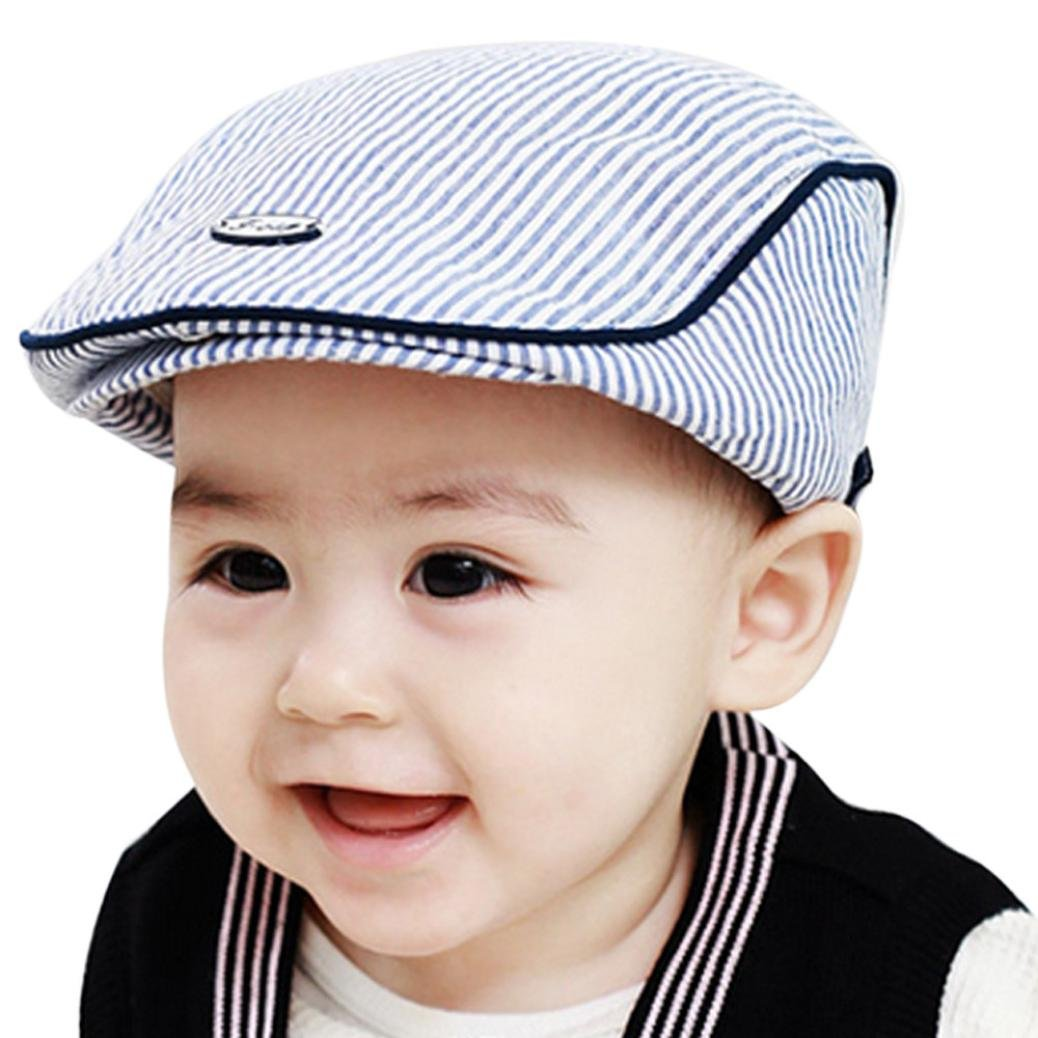 Amazon.com  Orangeskycn Cute Kids Hats Baseball Cap Baby Hat Boy Hats for  Kids Toddler Hats for Boys (Blue)  Garden   Outdoor 613af581860