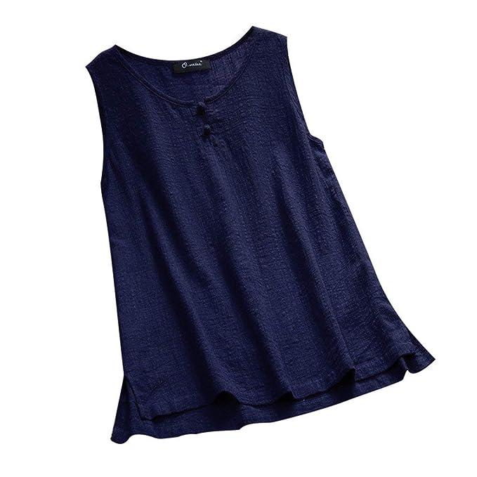 93d5ed3a5f0 POLP Camiseta Sin Mangas Mujer Fiesta Sexy Camiseta de Tirantes Ropa de  Yoga para Mujer Tank