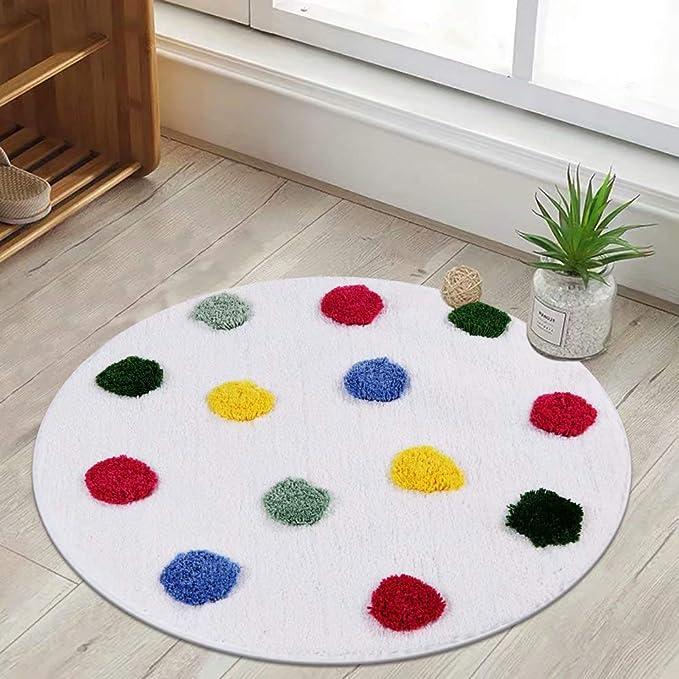 decorative play mat.htm amazon com livebox kids bath rug  polka dot bath mat 28inch round  amazon com livebox kids bath rug