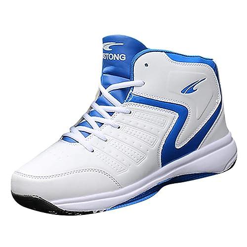 LANSKIRT Zapatos Deportivos Casuales con Cordones para Hombres Al ...
