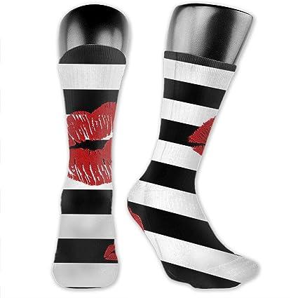 Black Novety Socks Red Lips Special SocksPerfect Gift