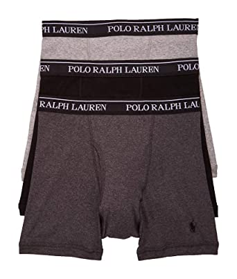 With Ralph Classic Packxl3andover Fit Heather Wicking100Cotton Lauren 3 Polo Boxer Moisture Briefs rQxBoedECW