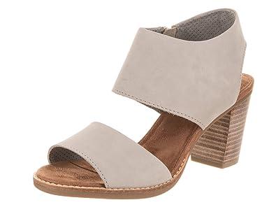 1d6f09d6588 TOMS Women's Majorca Cutout Sandal Drizzle Grey Leather 5.5 B US B (M)
