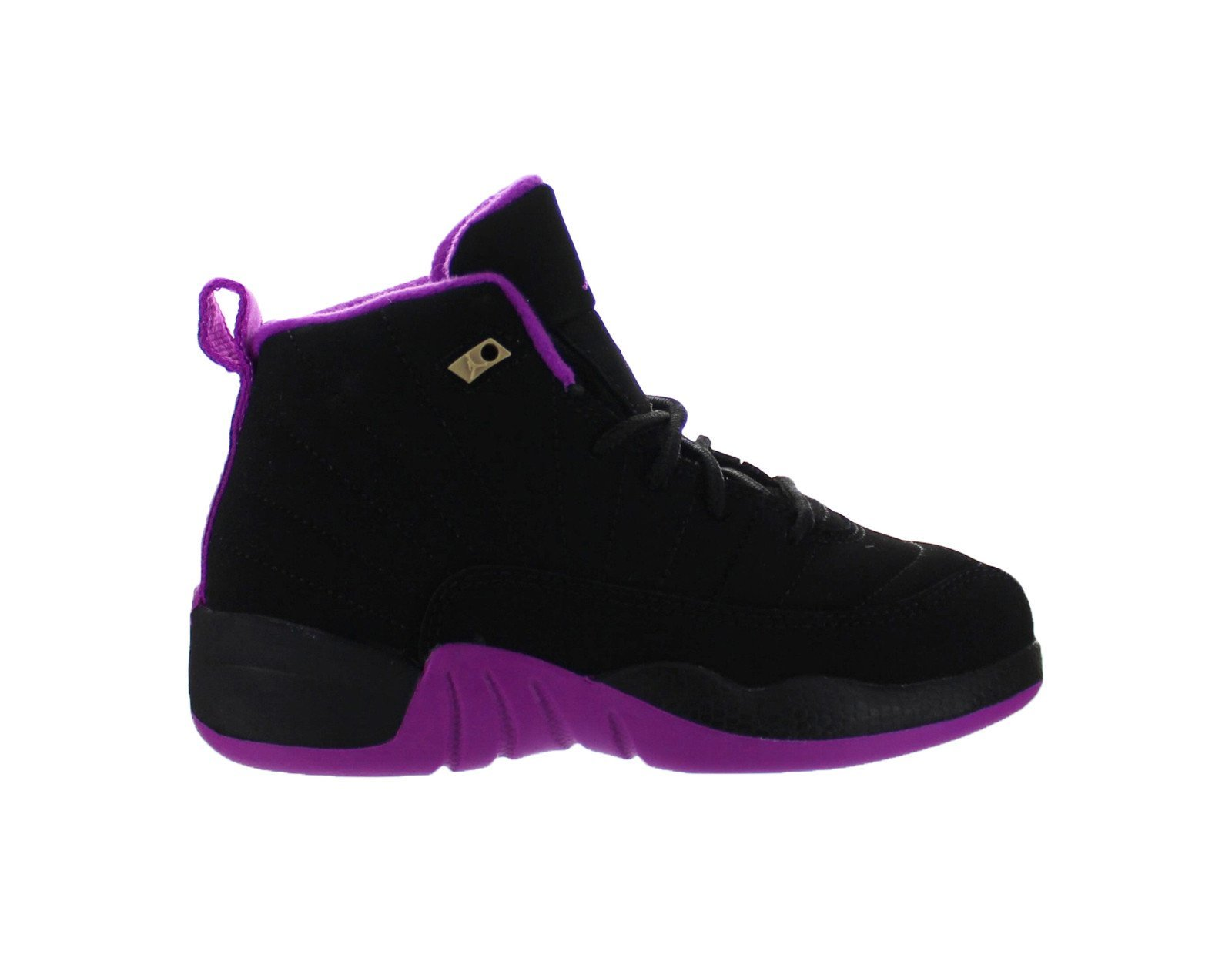 Air Jordan 12 XII Retro (PS) Black - Hyper Violet - Purple US 11C by NIKE