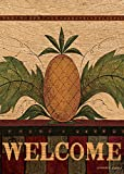 """LANG - Mini Garden Flag - """"Welcome Pineapple """", Exclusive Artwork by Warren Kimble   - All-Weather, Fade-Resistant Polyester  - 12"""" w x 18"""" h"""