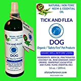 Essential Oils for Dogs Organic Neem & Essential Oils Tick & Flea Spray for Dogs, 16oz. All Natural / Toxin Free Made in USA